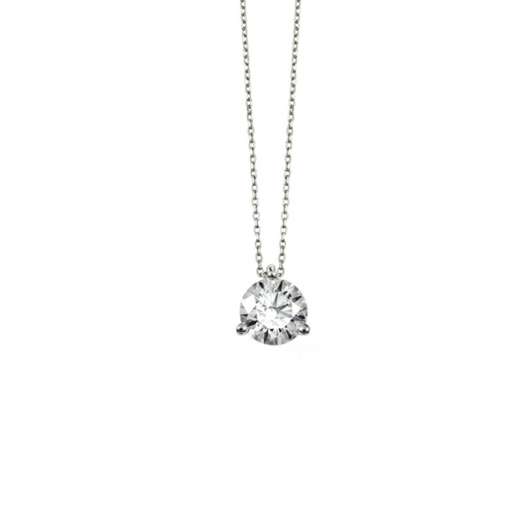collier diamant et or blanc