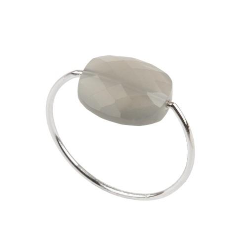 Bague pierre gris