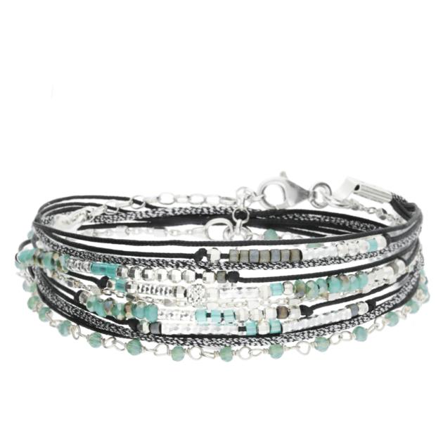 bracelet femme pierre verte