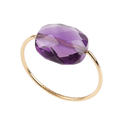 Bague or amethyste