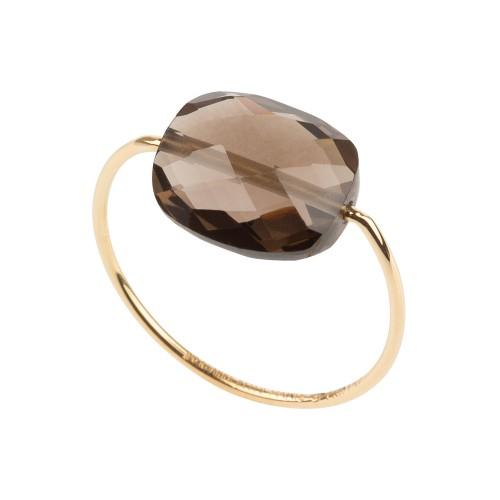 bague friandise or jaune quartz fum bagues femme fines boutique so bijoux. Black Bedroom Furniture Sets. Home Design Ideas