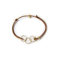 Bracelet cordon Trois Anneaux