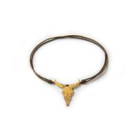 Bracelet cordon Tête de Taureau