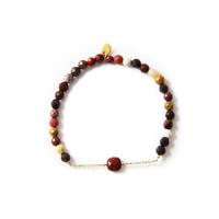 Bracelet Pierre de soleil / Corail rouge
