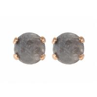 Boucles d'oreilles boutons avec briolette pierres