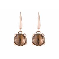 Boucles d'oreilles pendantes en pierre briolette