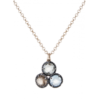Collier brillant trois pierres