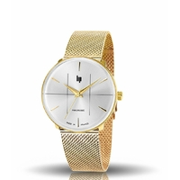 Panoramic, Classic, Gold/White, Maille Milanése Gold