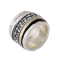 Multi anneaux, Argent, Vermeil et double Cristaux swarovski