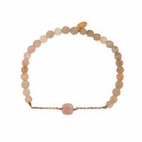 Bracelet Marie Opale Rose Perles Beiges