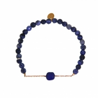 Bracelet Marie Lapis Lazuli Perles Bleu Foncé