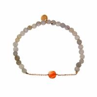 Bracelet Marie Corail Teinté Perles grises