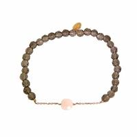 Bracelet Marie Opale Rose Perles Carbonnes