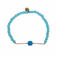 Bracelet Marie Pierre Turquoise Teintée Perles Turquoises