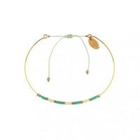Bracelet Alexandra Mint Vert Irisé Plaqué Or