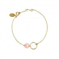 Bracelet Fidji Opal Rose Plaqué Or