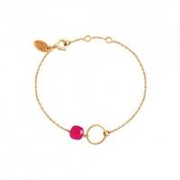 Bracelet Fidji Onyx Rose Plaqué Or