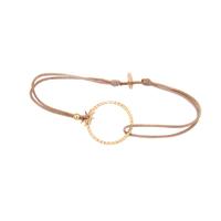 Bracelet Cordon Anneau Plaqué Or