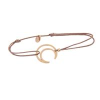 Bracelet Cordon Lune Plaqué Or