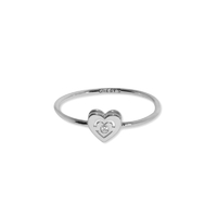 Bague Ibiza Love Or Blanc Serti Diamant