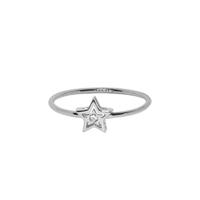 Bague Ibiza Star Or Blanc Serti Diamant