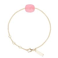 Bracelet Friandise Or Jaune quartz  Rose