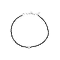 Bracelet Miyuky Noir Or Blanc Serti