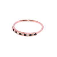 Bague Crazy Or Rose Serti Diamant