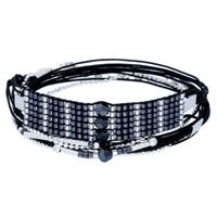 Bracelet Allure Noir Perles Bleu Nuit