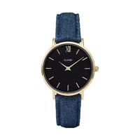 Minuit, Denim, Gold/Black