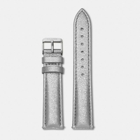 Bracelet Cuir Silver Metallic, Bohème, Silver