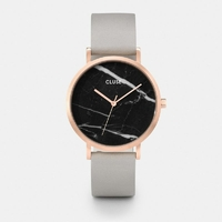 La Roche, Rose Gold Black Marble, Grey