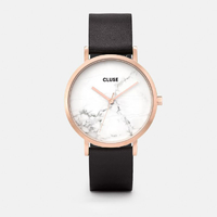 La Roche, Rose Gold White Marble, Black