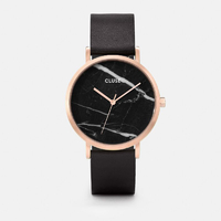 La Roche, Rose Gold Black Marble, Black