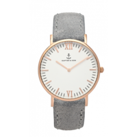 Campus Rose Gold White Grey Vintage Leather
