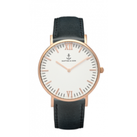 Campus Rose Gold White Black Leather