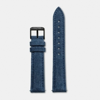 Bracelet Cuir Blue Denim Boheme Black
