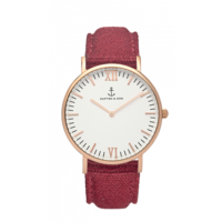 Campus Rose Gold White Bordeaux Canvas