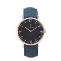 Campus Rose Gold Black Blue Canvas