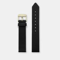 Bracelet Cuir Black La Roche Petite Gold