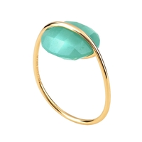 Bague Honoré Or Jaune Amazonite