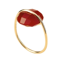 Bague Honoré Or Jaune Agathe Rouge