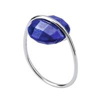 Bague Honoré Or Blanc Lapis Lazuli
