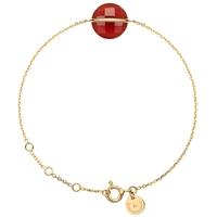 Bracelet Honoré Or Jaune Agathe Rouge