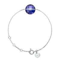 Bracelet Honoré Or Blanc Lapis Lazuli