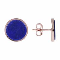 Boucles d'Oreilles Disc Alba Lapis Lazuli