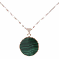 Collier Disc Alba Malachite