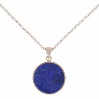 Collier Disc Alba Lapis Lazuli