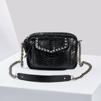 Sac Python Charly Noir Clous Argents