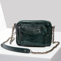 Sac Python Charly Vert Foret Argent